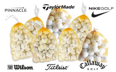 150 Merkballen inclusief gratis verzending - Titleist, Nike, Callaway, Wilson, Taylormade en Pinnacle