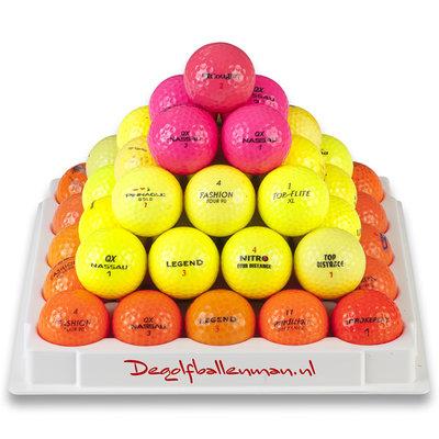 Gekleurde golfballen mix - 50 stuks