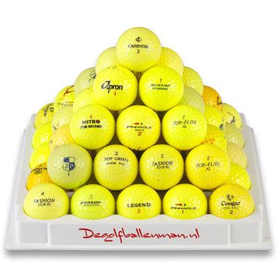 Golfballen Geel - 100 stuks