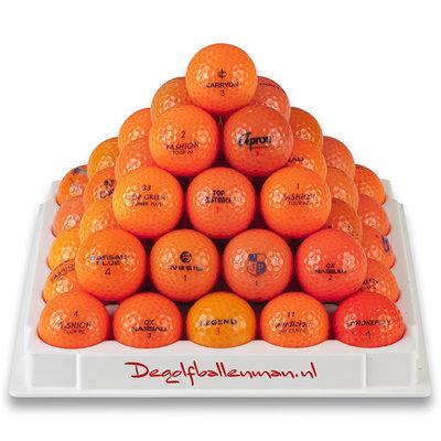 Golfballen Oranje - 50 stuks