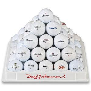 100 golfballen met Golfparaplu en BOB Golftowel