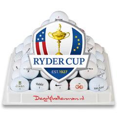 200 lakeballs inclusief Ryder Cup headcover en 100 tees