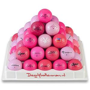 Golfballen Roze - 50 stuks