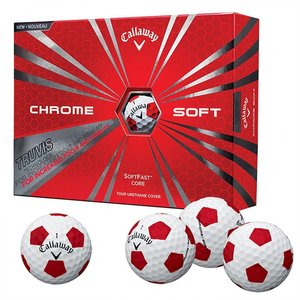 6 Dozijn Callaway Chrome Soft Truvis Rood/Wit